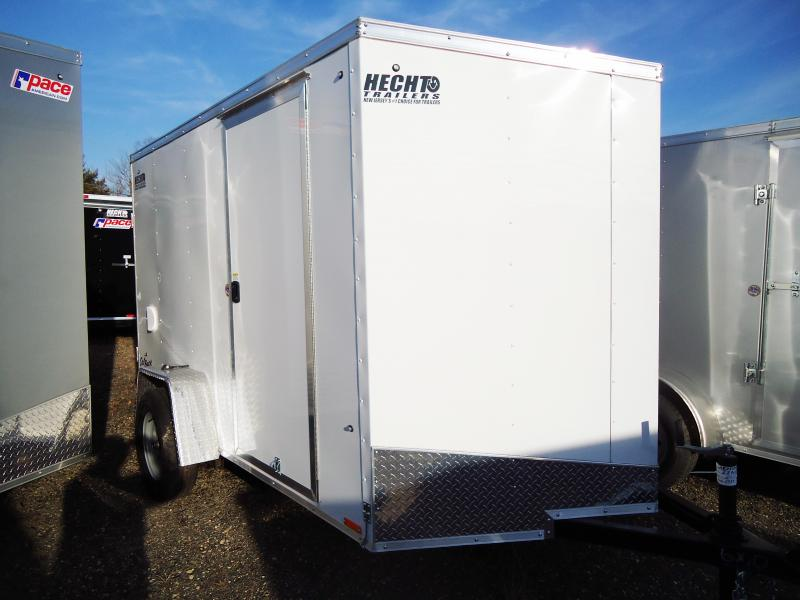 2019 Pace American 6X10 OBDLX SLOPEV RAMP SVENTS WHITE Enclosed Cargo Trailer