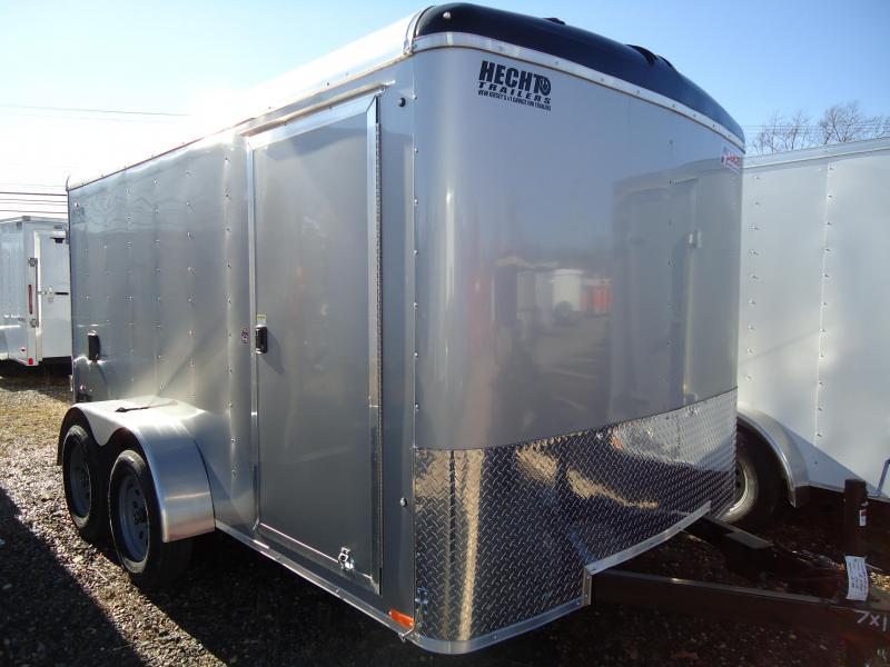 2019 Pace American 7X12 JT TE2 RAMP SILVER Enclosed Cargo Trailer