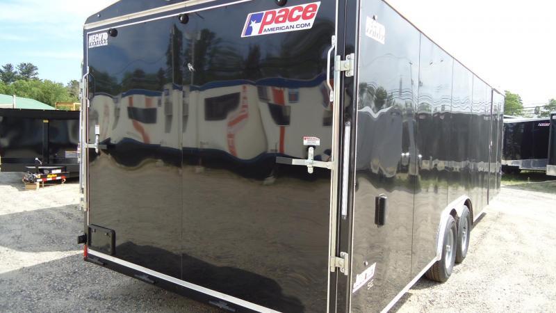 2020 Pace American 8.5X24 JT SE TE3 RAMP SCREWLESS BLACK Car / Racing Trailer