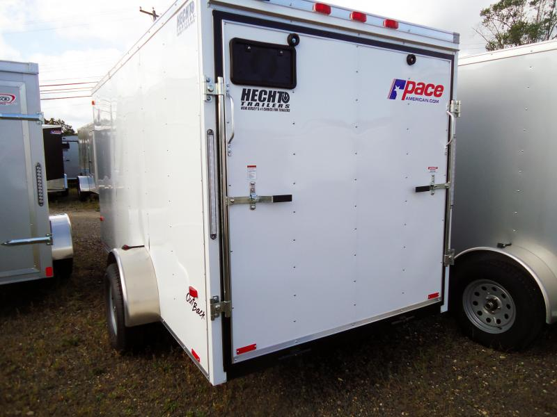 2019 Pace American 6X12 OB SI2 RAMP WHITE Enclosed Cargo Trailer