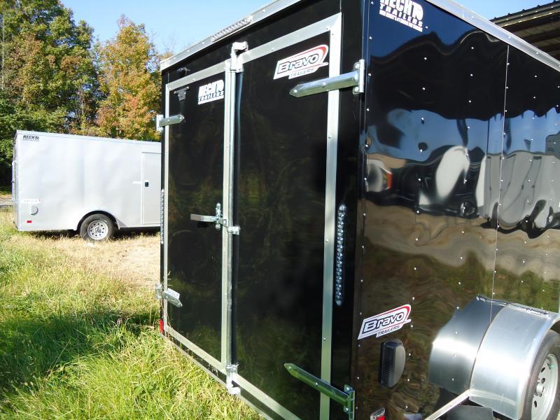 2019 Bravo Trailers 6X12 SC SA BLACK Enclosed Cargo Trailer