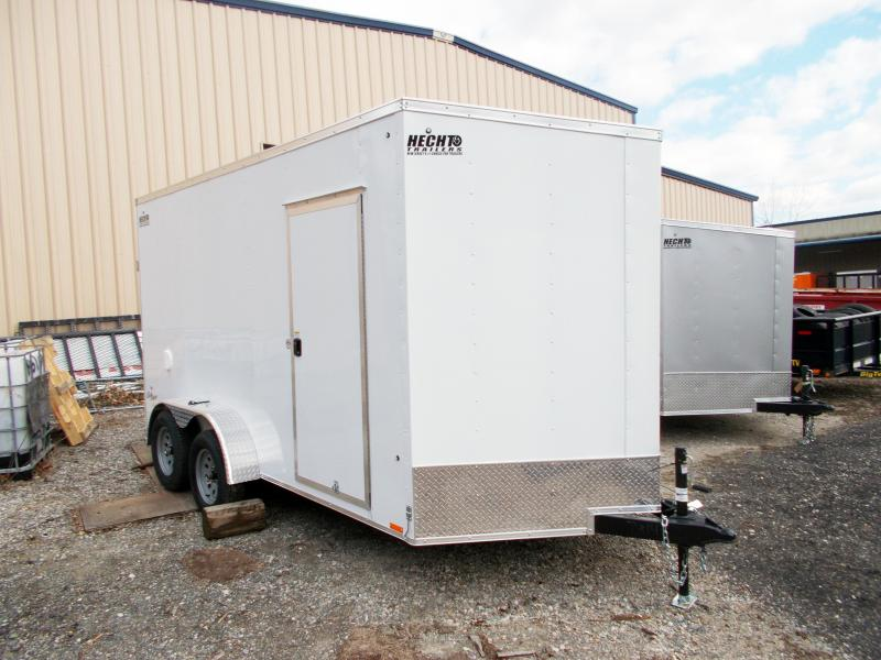 "2019 Pace American 7X14 OBDLX TE2 30""VS 12""X RAMP SVNTS DRNGS WHITE Enclosed Cargo Trailer"