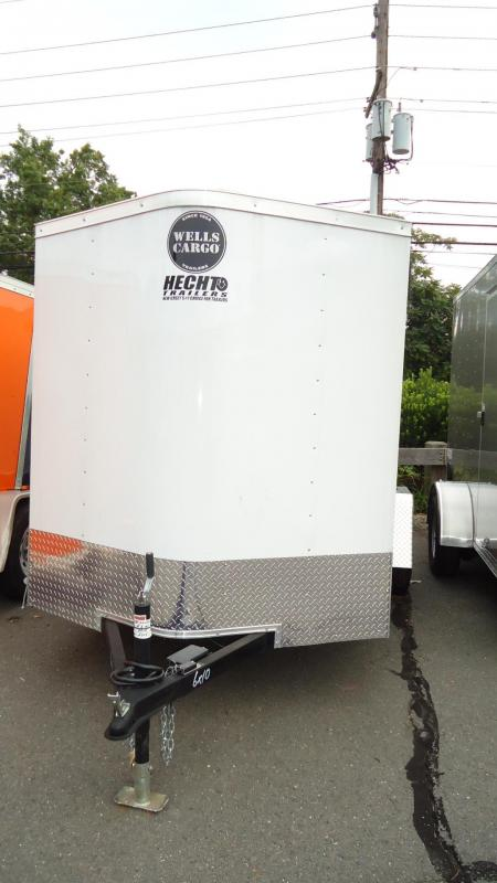 2019 Wells Cargo 6X10 FT S2 EB BAWAY WHITE Enclosed Cargo Trailer