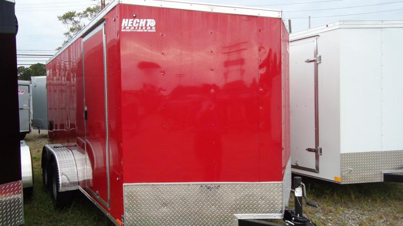 2020 Pace American 7X14 OBDLX TE2 30VS SVNT RED Enclosed Cargo Trailer