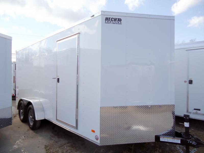 "2019 Bravo Trailers 7X16 SC TA2 30""V 6""X RAMP APP WHITE Enclosed Cargo Trailer"