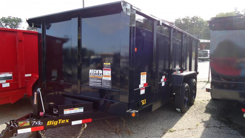 2020 Big Tex Trailers DT 7X16 16LX 16BKSIR P4 BLACK Dump Trailer