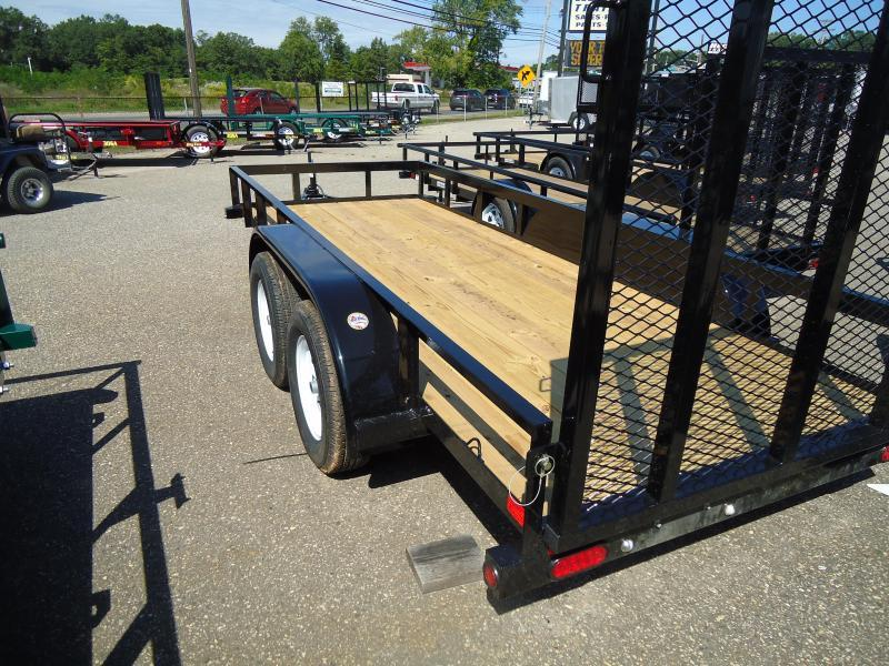 2018 Big Tex Trailers UT 5X12 45LA 12BK4RG BLACK Utility Trailer