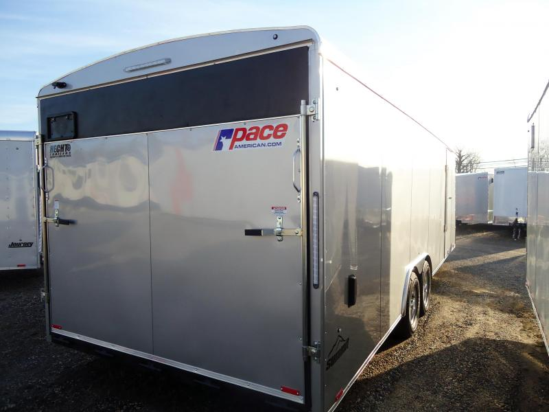 2019 Pace American 8.5X24 CLS TE3 18EXT RAMP SVNTS SILVER Enclosed Cargo Trailer