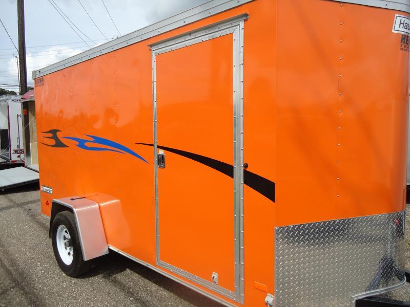 HAULMARK 6X12TSTV DS2 Orange Enclosed Cargo Trailer