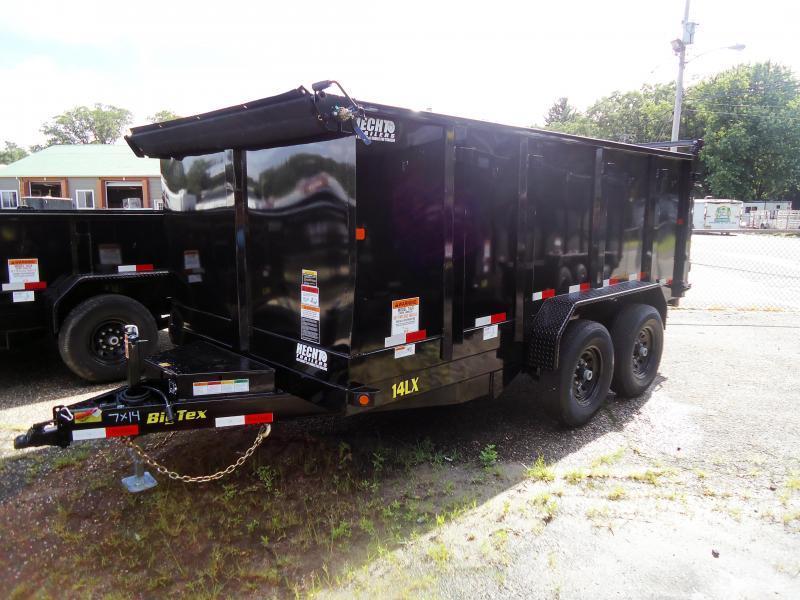 2018 Big Tex Trailers DT 7X14 14LX 14BK P4 7SIR TARP BLACK Dump Trailer