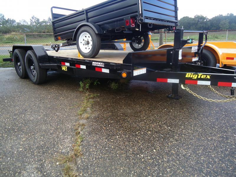 2018 Big Tex Trailers EH 7X18 14ET 18BK MR DT MEGA BLACK Equipment Trailer