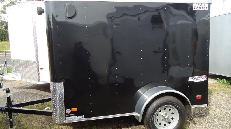 "2019 Bravo Trailers 5X8 SC SA 6""X RAMP APP BLACK Enclosed Cargo Trailer"