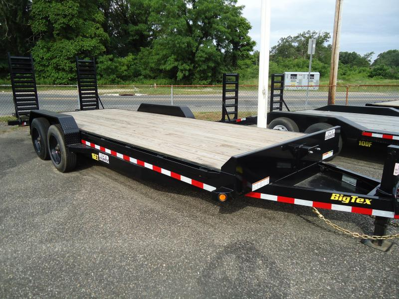 2019 Big Tex Trailers EH 7X22 16ET 193BK5SUKR KNEE BLACK Equipment Trailer