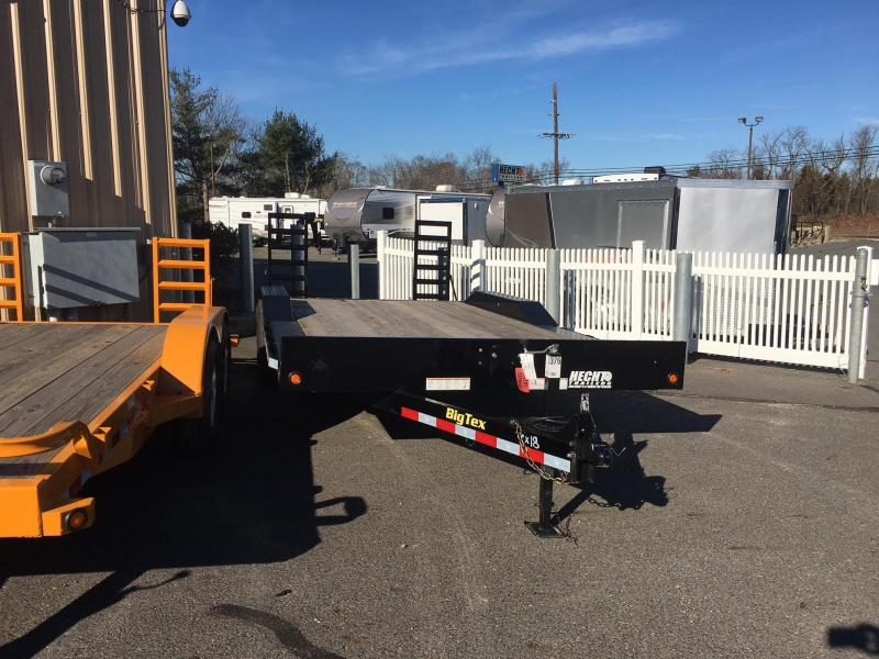 2016 Big Tex Trailers EH-7X18 10DF-18BK DECKOFEND DT Equipment Trailer