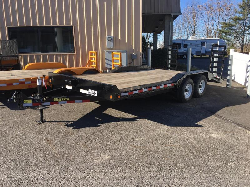 2016 Big Tex Trailers EH-7X18 10DF-18BK DECKOFEND DT Equipment Trailer