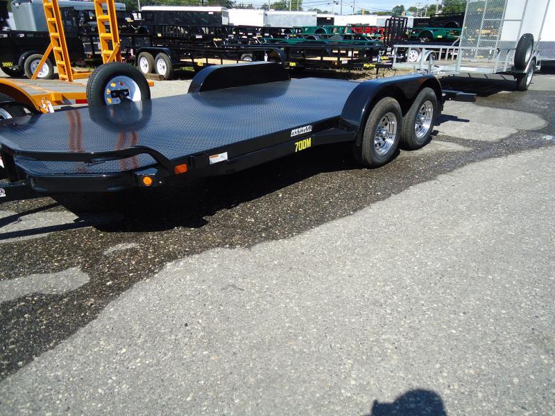 2018 Big Tex Trailers CH 7X20 70DM 20BK4SIR DT ADJ COUP BLACK Car / Racing Trailer