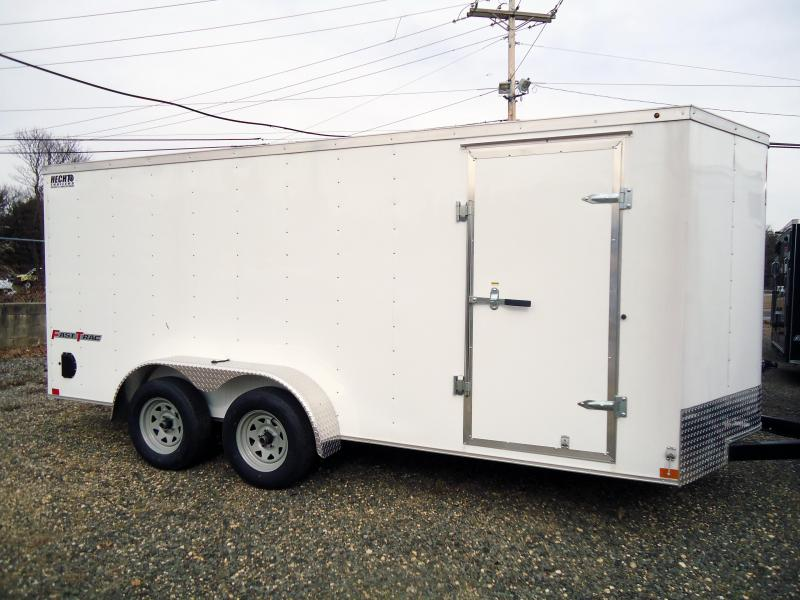 2019 Wells Cargo 7X16 FT 2 RAMP WHITE Enclosed Cargo Trailer