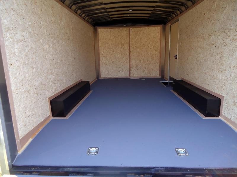 """2019 Pace American 8.5X16 CLS TE3 18"""" ETUNG RAMP SILVER Enclosed Cargo Trailer"""