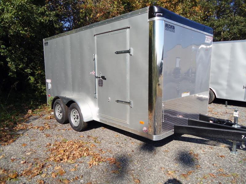 2019 Bravo Trailers 7X14ST TA2 LND SCP HD RAMP ADJ CUP SILVER Enclosed Cargo Trailer