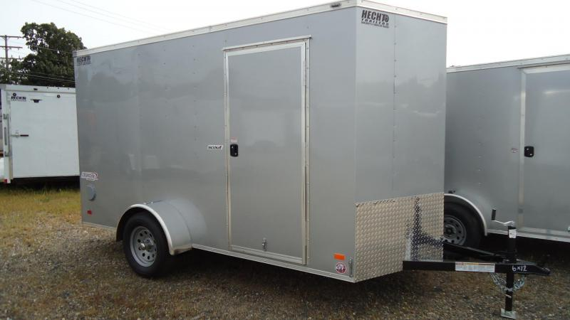 2020 Bravo Trailers 6X12 SC SA 18V ^X RAMP APP SILVER Enclosed Cargo Trailer