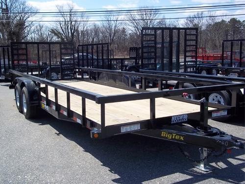 2017 Big Tex Trailers UT 7X20 10PI-20BK4HDSAG BLACK Utility Trailer