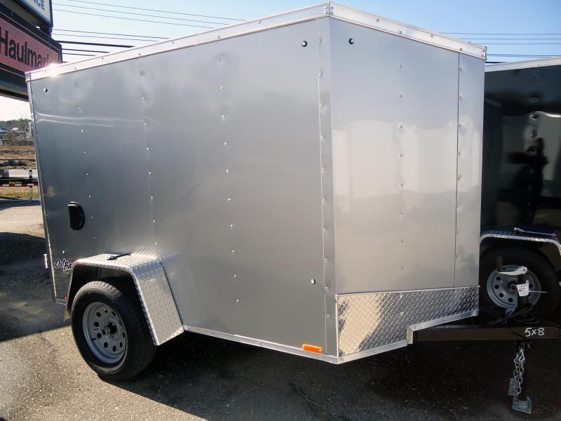 2019 Pace American 5X8 OBDLX SI2 SV EB RAMP SVNTS SILVER Enclosed Cargo Trailer