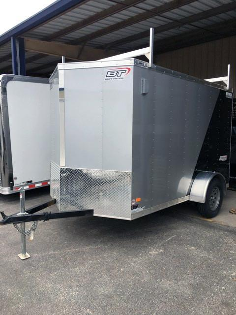 2018 Bravo Trailers 6X10 ST SA V LDR RCK SILVER BLACK Enclosed Cargo Trailer