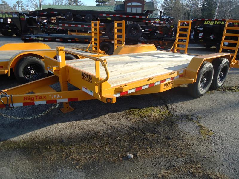 2019 Big Tex Trailers EH 7X16 14ET 16YE 5SUKR KNEE YELLOW Equipment Trailer