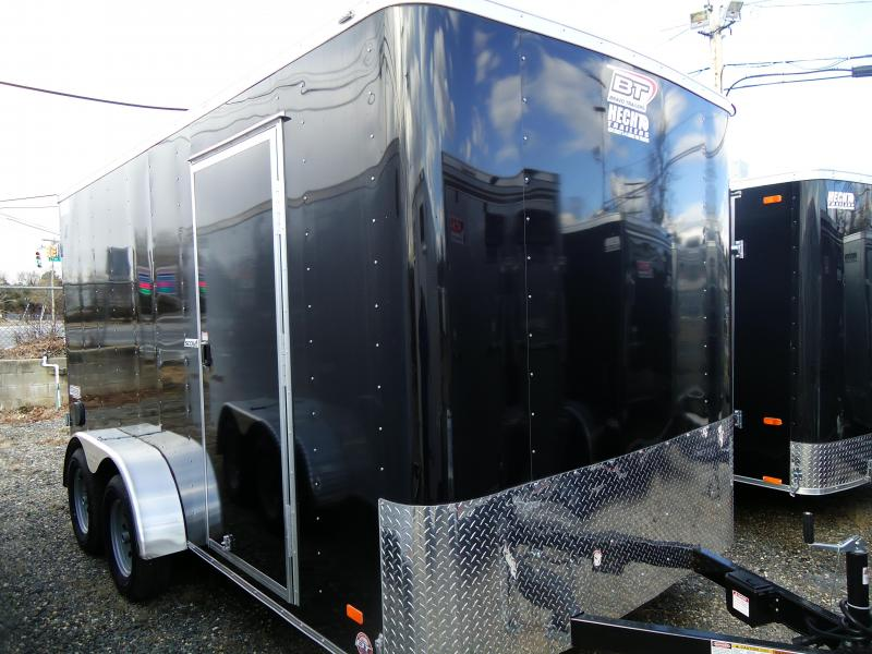 "2019 Bravo Trailers 7X14 SC TA2 6""X BLACK Enclosed Cargo Trailer"