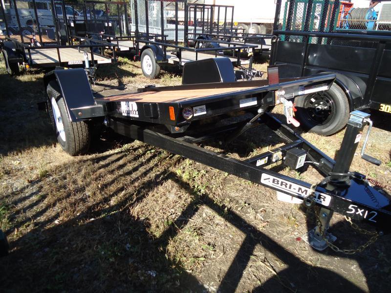 2018 Bri-Mar 5X12 BTG SA TILT BLACK Equipment Trailer
