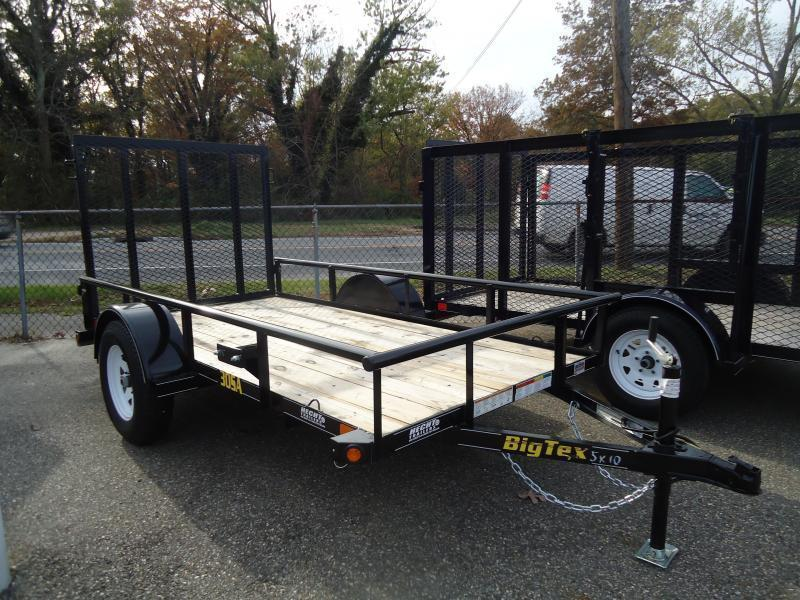 2019 Big Tex Trailers UT 5X10 30SA 10BK 4RG BLACK Utility Trailer
