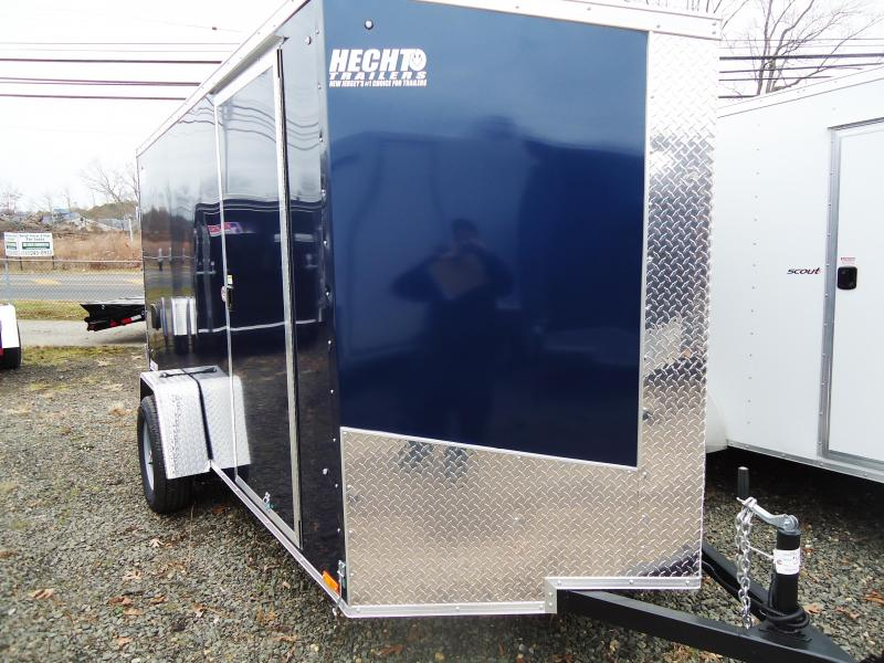 2018 Pace American 6X12 JVSE SI2 VS RVNT MXARCOV PEPSI BLUE Enclosed Cargo Trailer