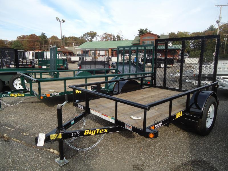 2018 Big Tex Trailers UT 5X8 30SA-08BK4RG BLACK Utility Trailer