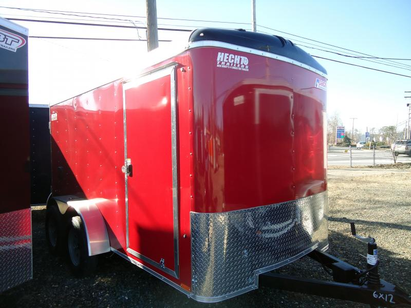 2019 Pace American 6X12 JT TE2 RAMP SVNTS RED Enclosed Cargo Trailer