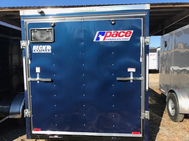 "2019 Pace American 6X12O BDLX SI2 24""VS RAMP SVNTS BLUE Enclosed Cargo Trailer"
