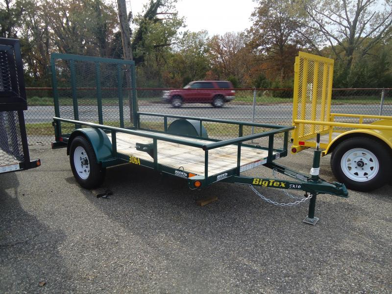 2017 Big Tex Trailers UT-5X8 30SA-08GR4RG GREEN Utility Trailer