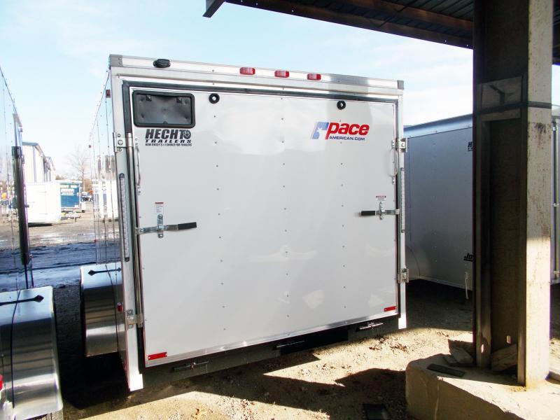 2019 Pace American 7X14 OB TE2 RAMP WHITE Enclosed Cargo Trailer