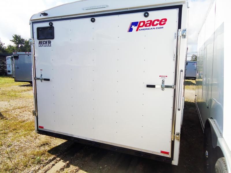 "2019 Pace American 8.5X20 JT TE2 18""TUNG HD RAMP SVNTS WHITE Car / Racing Trailer"