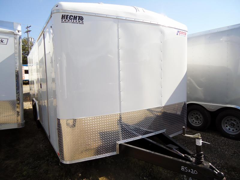 "2019 Pace American 8.5X20 JT TE2 18""TUNG HD RAMP SVNTS WHITE Car / Racing Trailer"