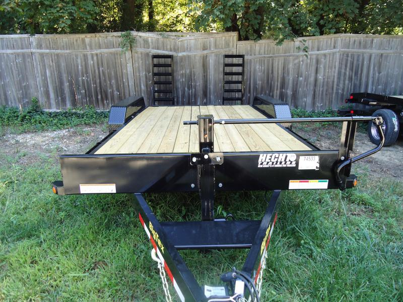 2017 Big Tex Trailers EH 7X20 14ET-20BK-KR KNEE RAMPS BLACK EQUIPMENT TRAILER