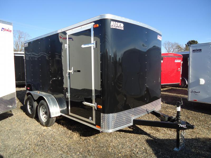 2019 Pace American 7X12 OB TE2 RAMP BLACK Enclosed Cargo Trailer