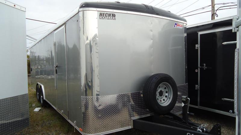 """2020 Pace American 8.5X24 CLS TE3 18""""XA RAMP SVNT SILVER Enclosed Cargo Trailer"""
