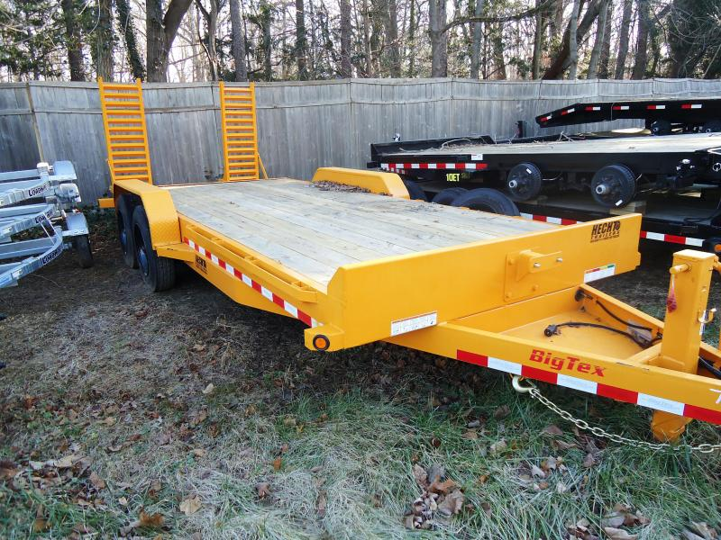 2019 Big Tex Trailers EH 7X20 16ET-17+3YE 5SUKR KNEE YELLOW Equipment Trailer