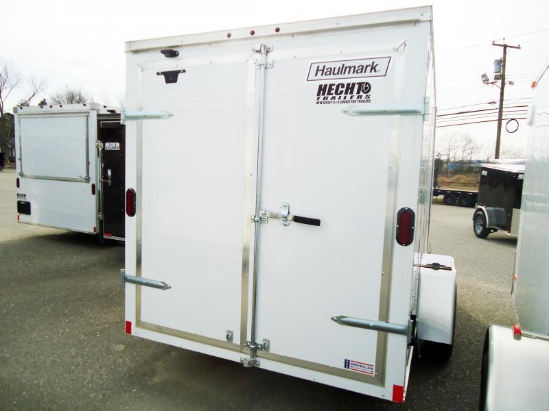 2019 Haulmark 6X12 PPT WHITE Enclosed Cargo Trailer