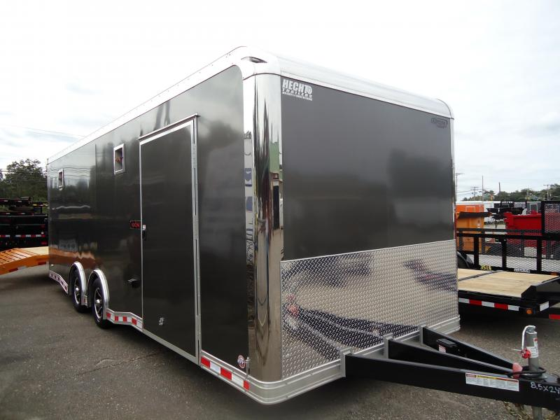 2019 Bravo Trailers 8.5X24 ICON TA3 TOP GUN CARPET WALL CHARCOAL Car / Racing Trailer