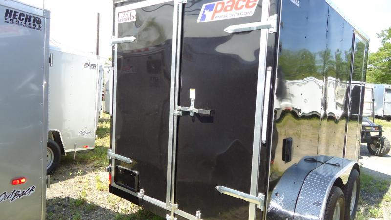 2020 Pace American 6X12 OBDLX TE2 24VS 6X SVNT BLACK Enclosed Cargo Trailer