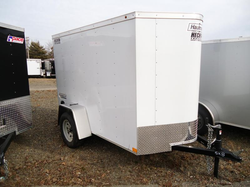 2019 Haulmark 5X8 PPT WHITE Enclosed Cargo Trailer