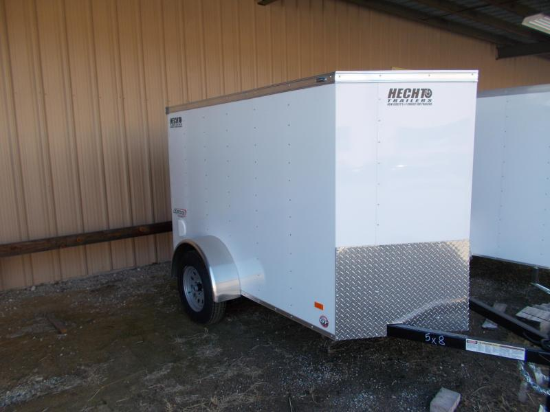2019 Bravo Trailers 5X8 SC SA V RAMP WHITE Enclosed Cargo Trailer