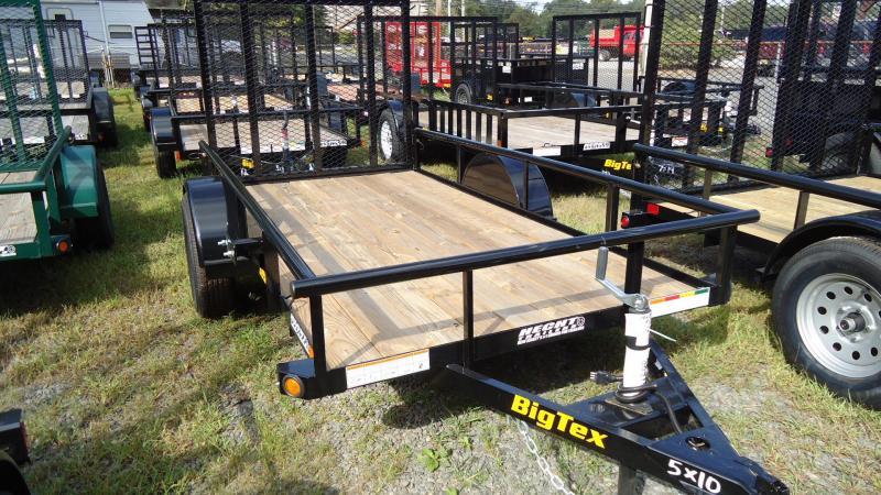 2020 Big Tex Trailers UT 5X10 30SA 10BK4RG BLACK Utility Trailer