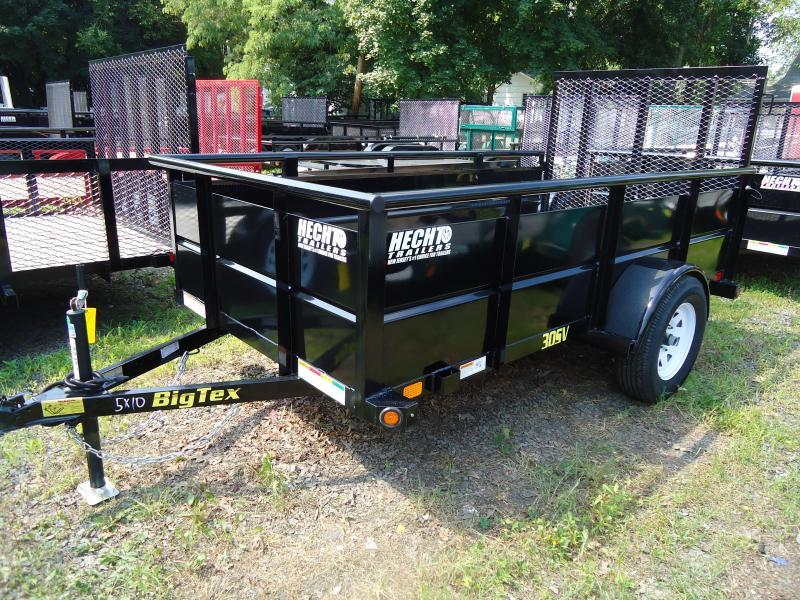 2019 Big Tex Trailers UT 5X10 30SV 10BK4RG BLACK Utility Trailer